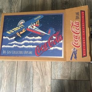 Texaco and Coca Cola airplanes die cast